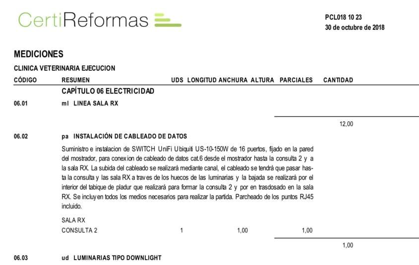 Propuesta de obra Presupuesto Reforma Madrid