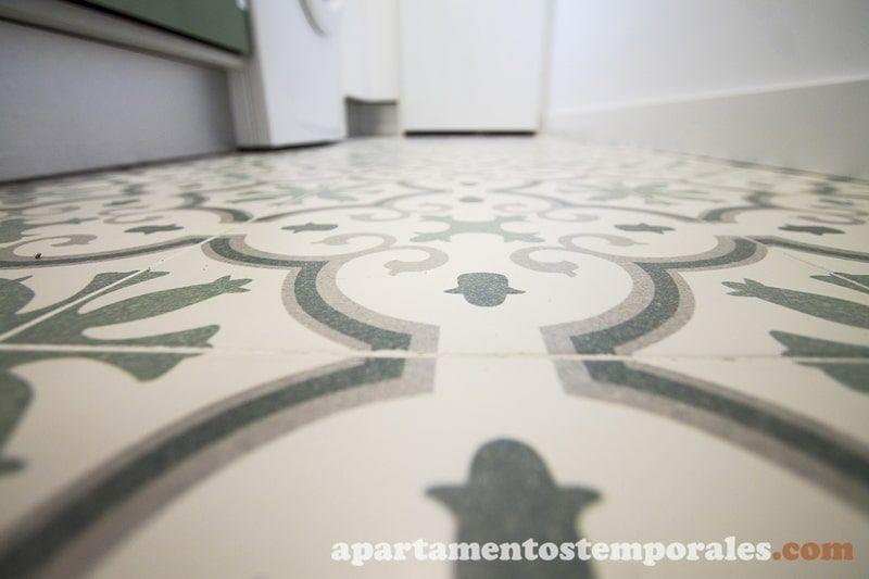 Suelos porcelánico estilo hidráulico Reforma Madrid Olavide