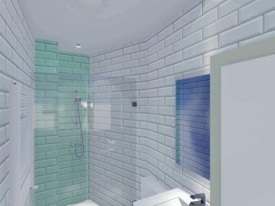 Infografía 3D baño La Latina Madrid